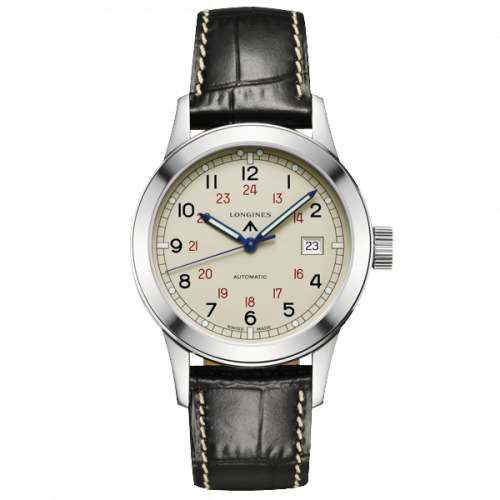 L2.832.4.73.0 : Longines Heritage Military COSD Ivory
