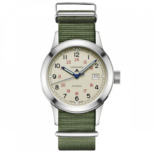 L2.832.4.73.5 : Longines Heritage Military COSD Ivory