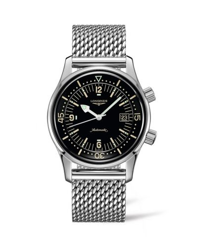 L3.774.4.50.6 : Longines Legend Diver Date Stainless Steel / Black / Milanese