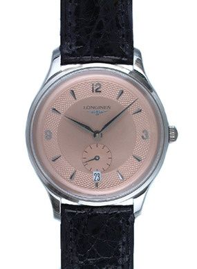 L4.685.4.96.2 : Longines Heritage Prestige Stainless Steel / Pink