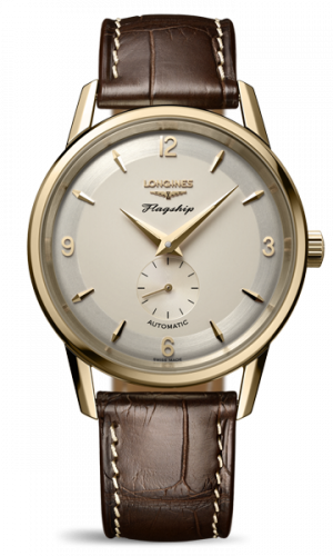 Longines L4.817.6.76.2 : Flagship Heritage 60th Anniversary Yellow Gold