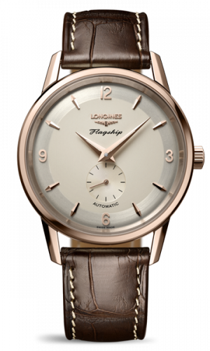 Longines L4.817.8.76.2 : Flagship Heritage 60th Anniversary Rose Gold