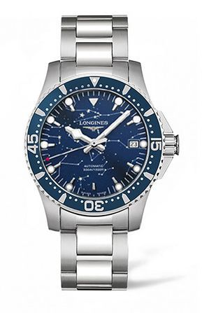 Longines L3.675.4.96.6 : HydroConquest 39 Automatic Stainless Steel / Blue / Bracelet / Star Navigation