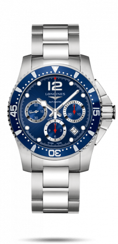 Longines L3.744.4.96.6 : HydroConquest 41 Automatic Chronograph Stainless Steel / Blue / Bracelet