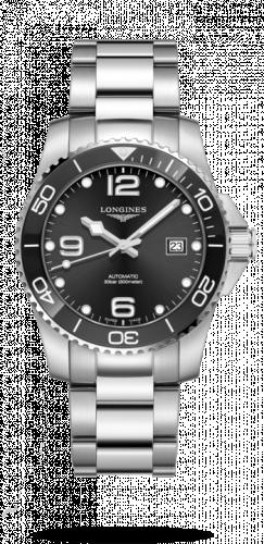 Longines L3.781.4.56.6 : HydroConquest 41 Automatic Stainless Steel / Ceramic / Black / Bracelet
