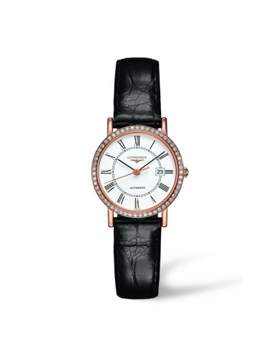 L4.378.9.11.0 : Longines Elegant Collection Automatic 27.2 Pink Gold / Diamond / White