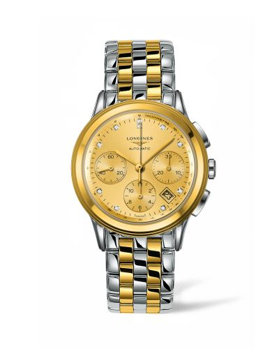 Longines L4.803.3.37.7 : Flagship Chronograph Two Tone Diamond