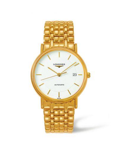 Longines L4.921.2.18.8 : Presence 38.5 Automatic PVD Gold / White / Bracelet