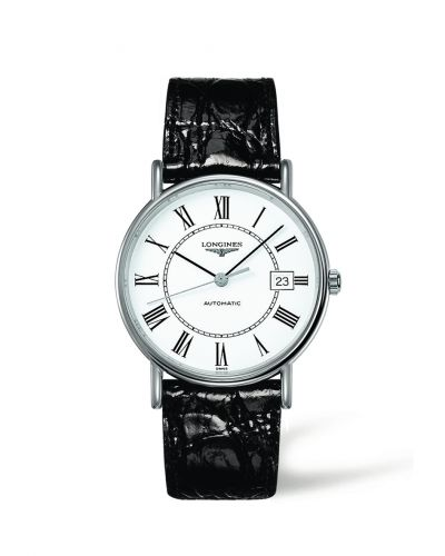 Longines L4.921.4.11.2 : Presence 38.5 Automatic Stainless Steel / White - Roman