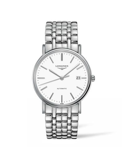 Longines L4.921.4.12.6 : Presence 38.5 Automatic Stainless Steel / White / Bracelet