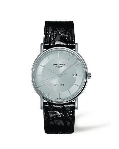 L4.921.4.78.2 : Longines Presence 38.5 Automatic Stainless Steel / Silver / Strap