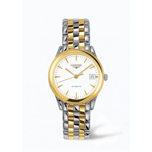 Longines L4.774.3.22.7 : Flagship 35.6 Automatic Two Tone White
