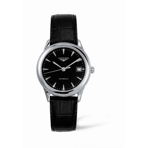 L4.774.4.52.2 : Longines Flagship 35.6 Automatic Stainless Steel Black