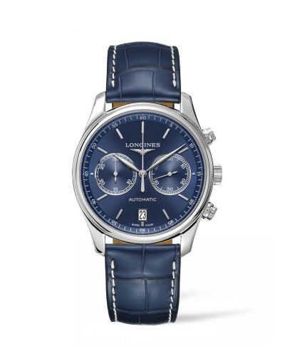 Longines L2.629.4.92.0 : Master Collection Chronograph 40 Stainless Steel / Blue / Strap