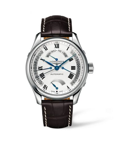 Longines L2.716.4.71.5 : Master Collection 44 Retrograde Power Reserve Stainless Steel / Silver-Roman / Alligator XL