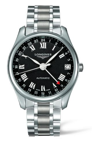 Longines L2.718.4.50.6 : Master Collection 42 24h Stainless Steel / Black-Arabic / Bracelet