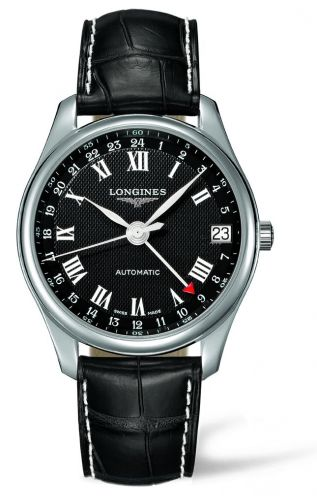Longines L2.718.4.50.7 : Master Collection 42 24h Stainless Steel / Black-Roman / Alligator
