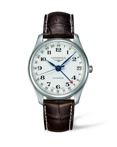 Longines L2.718.4.70.5 : Master Collection 42 24h Stainless Steel / Silver-Arabic / Alligator XL