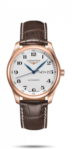 Longines L2.755.8.78.5 : Master Collection 38.5  Day Date Pink Gold / Silver-Arabic / Alligator XL
