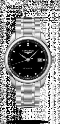 Longines L2.793.4.57.6 : Master Collection 40 Date Stainless Steel / Black-Diamond / Bracelet