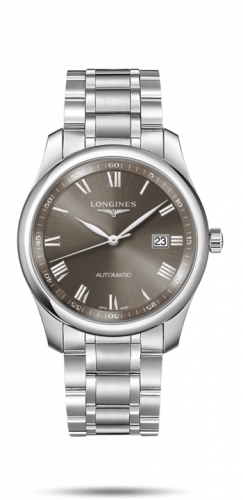 Longines L2.793.4.71.6 : Master Collection 40 Date Stainless Steel / Grey Roman / Bracelet