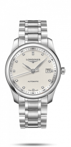 Longines L2.793.4.77.6 : Master Collection 40 Date Stainless Steel / Silver-Diamond / Bracelet
