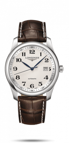 Longines L2.793.4.78.5 : Master Collection 40 Date Stainless Steel / Silver-Arabic / Alligator XL
