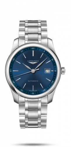 Longines L2.793.4.92.6-2 : Master Collection 40 Date Stainless Steel / Blue / Bracelet