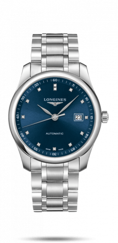 Longines L2.793.4.97.6 : Master Collection 40 Date Stainless Steel / Blue-Diamond / Bracelet