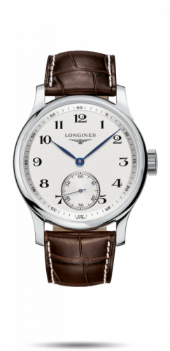 Longines L2.840.4.78.3 : Master Collection 47.5 Small Seconds Stainless Steel / Silver-Arabic / Alligator