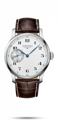 Longines L2.841.4.18.3 : Master Collection 47.5 Small Seconds Stainless Steel / White-Arabic / Alligator