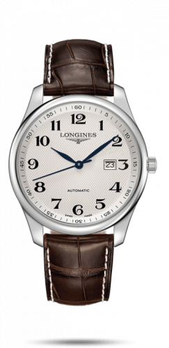Longines L2.893.4.78.5 : Master Collection 42 Date Stainless Steel / Silver-Arabic / Alligator XL