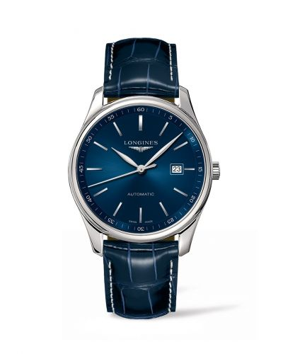 Longines L2.893.4.92.2 : Master Collection 42 Date  Stainless Steel / Blue / Alligator XL