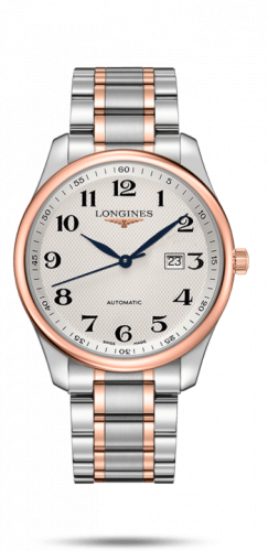 Longines L2.893.5.79.7 : Master Collection 42 Date Stainless Steel / Pink Gold / Silver-Arabic / Bracelet