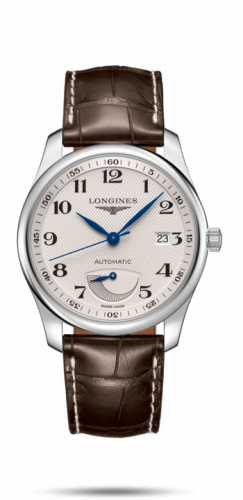 Longines L2.908.4.78.5 : Master Collection 40mm Power Reserve Stainless Steel / Silver-Arabic / Alligator XL