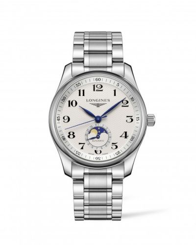 Longines L2.909.4.78.6 : Master Collection 40 Moonphase Stainless Steel / Silver-Arabic / Bracelet