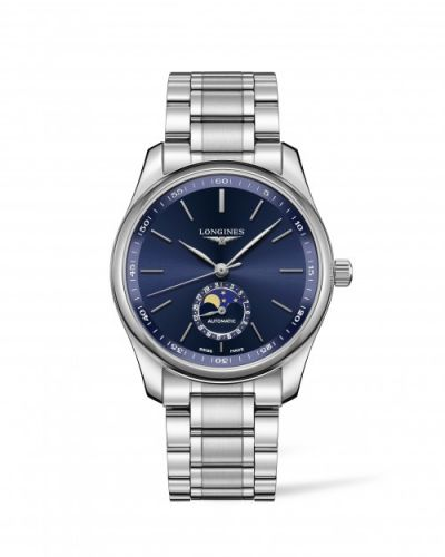 Longines L2.909.4.92.6 : Master Collection 40 Moonphase Stainless Steel / Blue / Bracelet