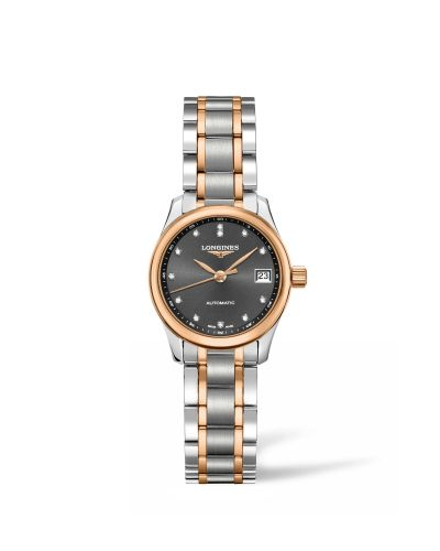 Longines L2.128.5.07.7 : Master Collection Date 25.5 Two Tone Rose / Grey