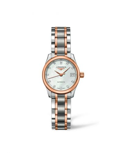 Longines L2.128.5.89.7 : Master Collection Date 25.5 Two Tone Pink