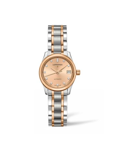 Longines L2.128.5.99.7 : Master Collection Date 25.5 Two Tone Rose / Bronze