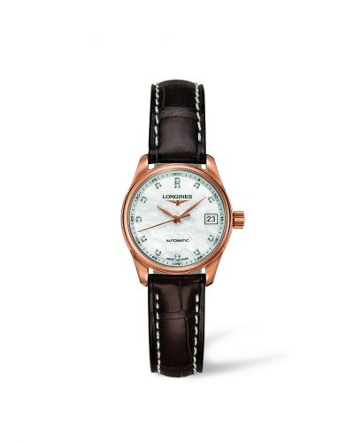 Longines L2.128.8.87.3 : Master Collection Date 25.5 Pink Gold