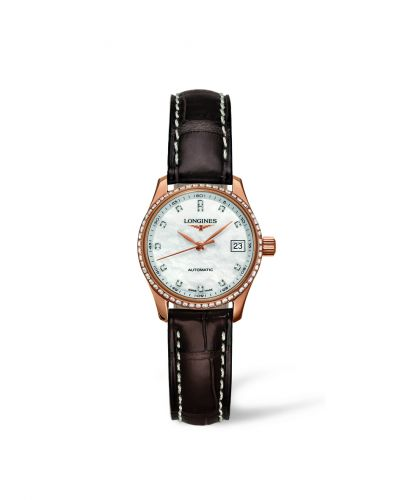 Longines L2.128.9.87.3 : Master Collection Date 25.5 Pink Gold Diamond
