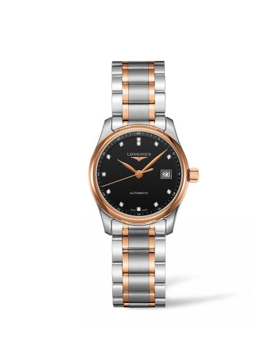 Longines L2.257.5.59.7 : Master Collection 29 Two Tone Rose / Black