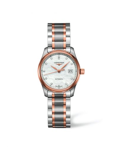 Longines L2.257.5.89.7 : Master Collection Date 29 Two Tone Pink