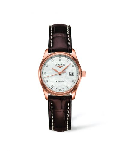 Longines L2.257.8.87.3 : Master Collection Date 29 Pink Gold