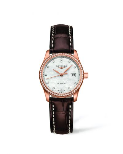 Longines L2.257.9.87.3 : Master Collection Date 29 Pink Gold Diamond