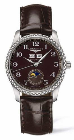 Longines L2.503.0.03.3 : Master Collection Calendar 36 Stainless Steel / Diamond / Brown MOP