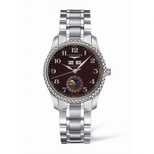 Longines L2.503.0.03.6 : Master Collection Calendar 36 Stainless Steel / Diamond / Brown MOP / Bracelet