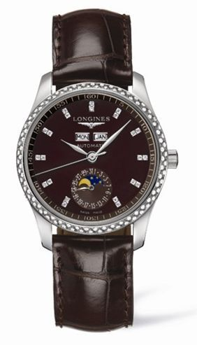 Longines L2.503.0.07.3 : Master Collection Calendar 36 Stainless Steel / Diamond / Brown MOP