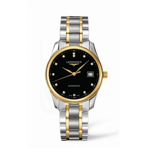 Longines L2.518.5.57.7 : Master Collection Date 36 Two Tone Black DIamond